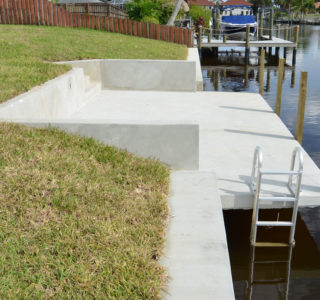 Price quoted  for a cantilever dock includes threaded water nipple (No Plumbing) and Electrical Box (No Wiring), Two Cleats (2), an aluminum ladder and one set of steps.